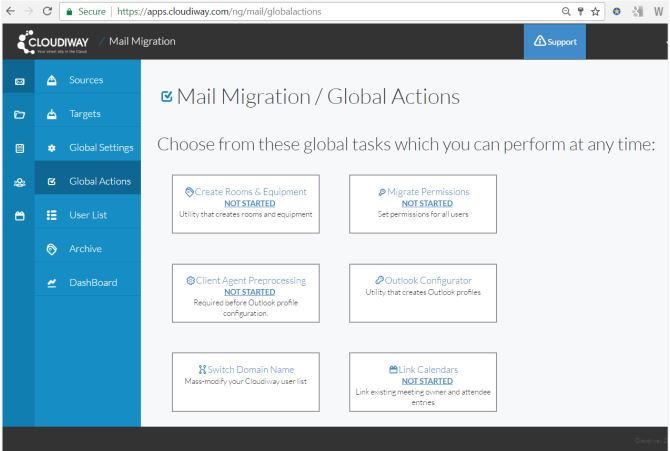 Office 365 to G Suite Migration Guide Global Actions