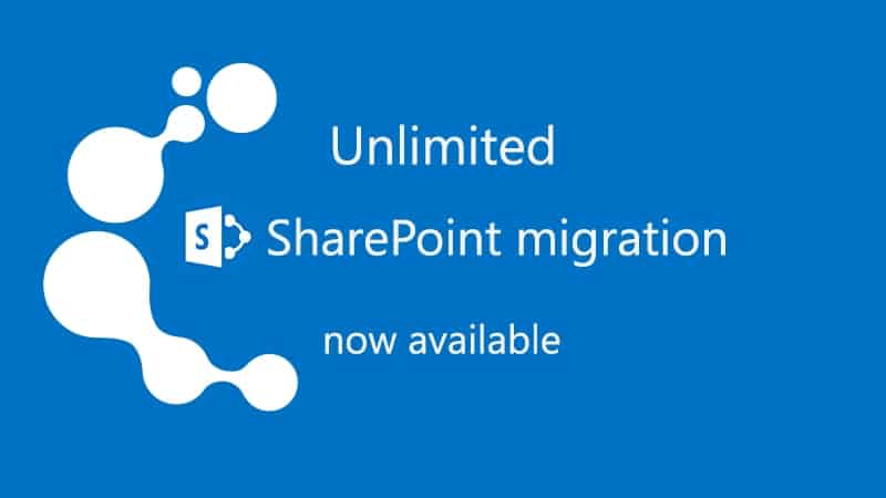 Unlimited SharePoint migration, a real game changer for IT pros! Jump to Office 365!