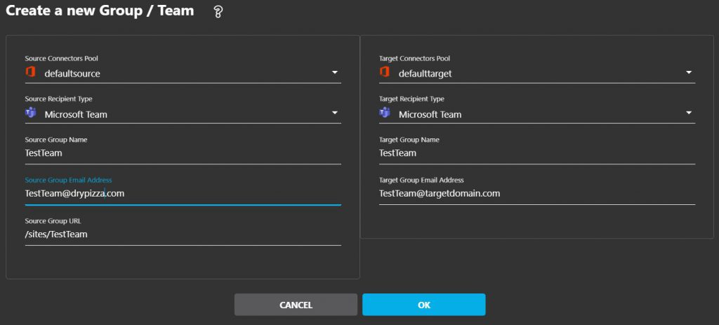 Cloudiway Platform Create Microsoft Teams