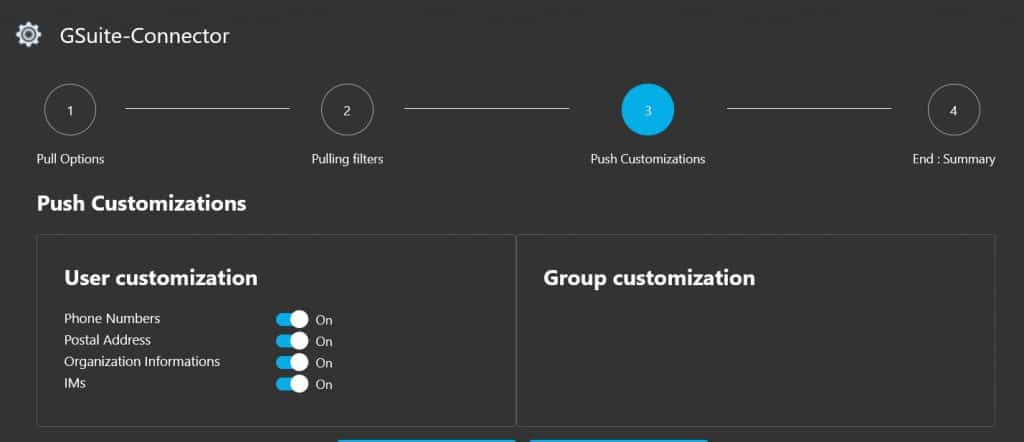 GALSync Push Customization