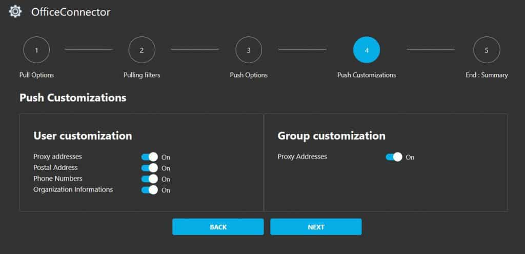 GALSync Office 365 Push Customizations